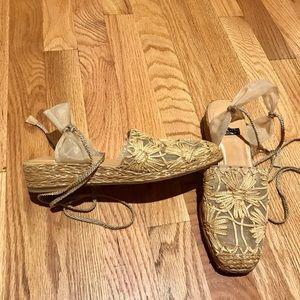Vintage Stuart Weitzman Espadrille Wedge Sandal
